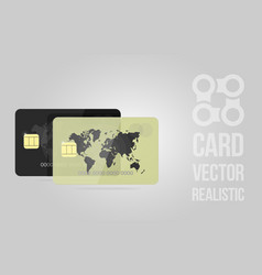 golden and black credit card realistic detailed vector image