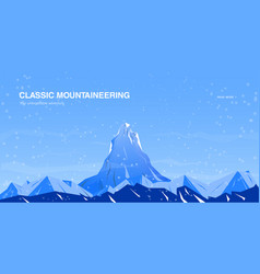horizontal background with mountains vector image vector image