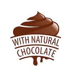 logo with natural chocolate candy vector image