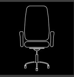 Office chair white color path icon vector