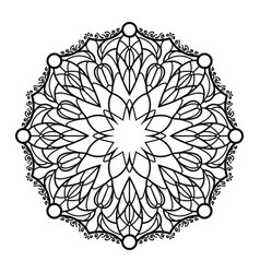 Ornamental floral mandala isolated on white vector