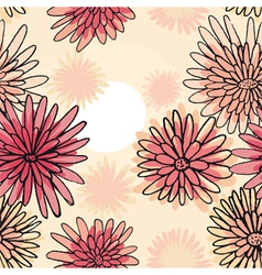 pattern of the daisies vector image vector image