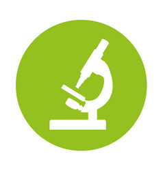 Round icon microscope cartoon vector