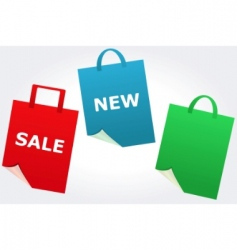 sale and new signs vector image