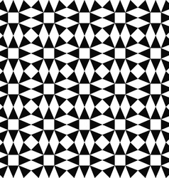 Seamless monochrome triangle pattern background vector