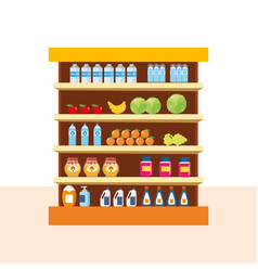 Store food products shopping mall foods vector