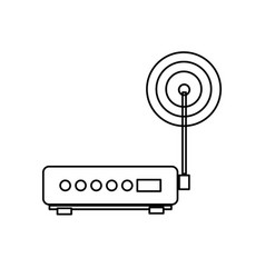 Wifi router modem technology mobile system vector