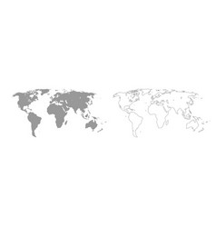 world map grey set icon vector image