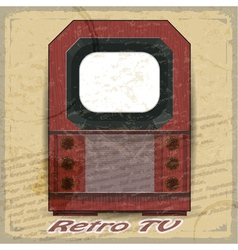 Retro tv on a vintage background vector