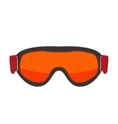 Ski glasses isolated on white vector image