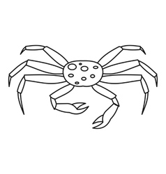 Live spider crab icon outline style vector