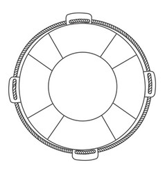 Silhouette flotation hoop with rope vector