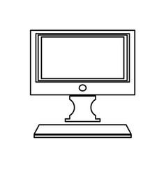 Modern screen computer monitor technology vector
