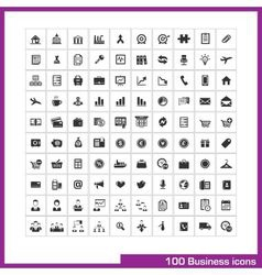 100 business and finance icons set vector