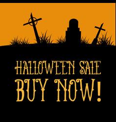 Halloween sale on the dark scenery vector