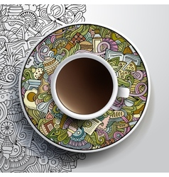 with a Cup of coffee vector image