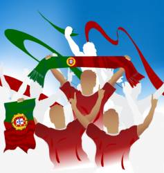 Portugal crowd vector