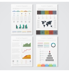Modern info graphics use in website flyer vector
