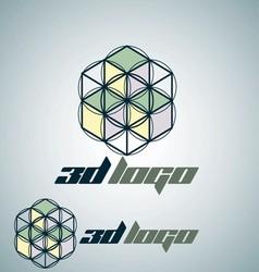3d logo 9 vector image