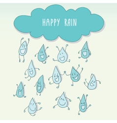 Happy rain vector