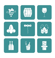 Wine icon collection vector