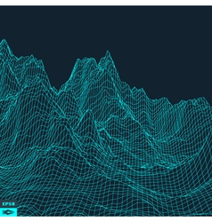 Abstract landscape background vector