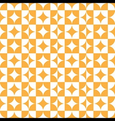 Abstract Circle Square Pattern Orange vector image