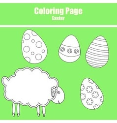 Coloring page easter vector