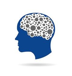 Brain networking vector image