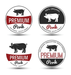 Pork label 3 vector