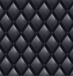Black leather background vector