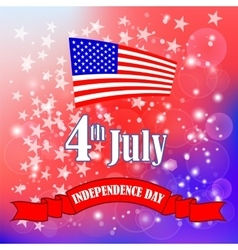 American Flag Starry Background vector image vector image