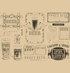Beer placemat vector
