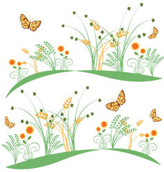Butterflies-and-flowers-6 vector