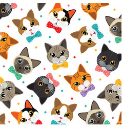 cats amp friend pattern vector image