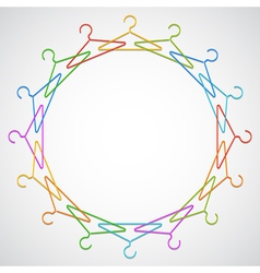 Color hangers vector image