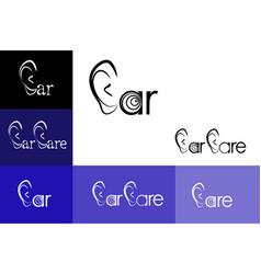 ear care logo emblem vector image vector image