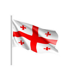 georgia national flag realistic vector image