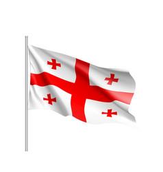 Georgia national flag realistic vector