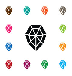 Isolated wealthy icon diamond element can vector