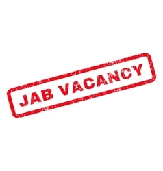 Jab Vacancy Rubber Stamp vector image vector image