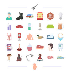 Man tool medicine and other web icon in cartoon vector