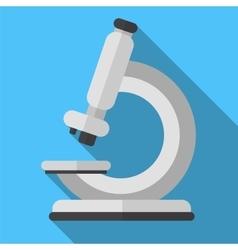 Microscope flat icon vector image vector image