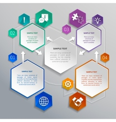 Paper hexagons template vector