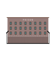 Prison building flat icon vector