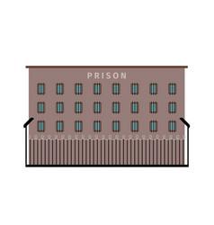 Prison building flat icon vector