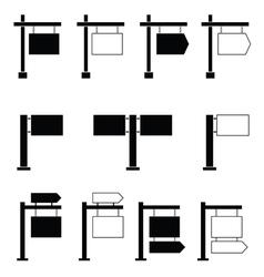 signboard set black vector image vector image