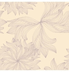 Simple sketched flowers vector image vector image