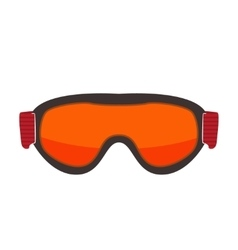 Ski glasses isolated on white vector image