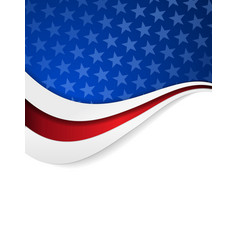 Stars and stripes themed background vector image